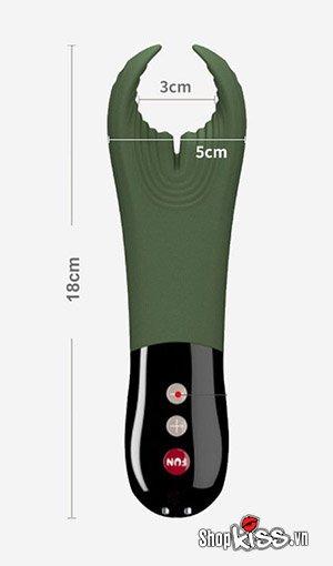 kích thước của máy rung massage dương vật Fun Manta dc91v