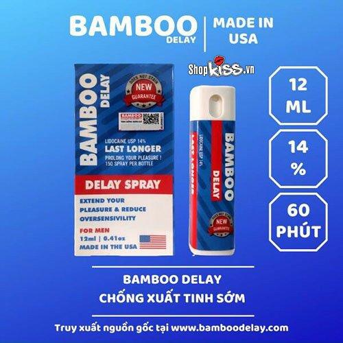 Chai xịt chống xuất tinh sớm Bamboo Delay XTS12 tại sài gòn